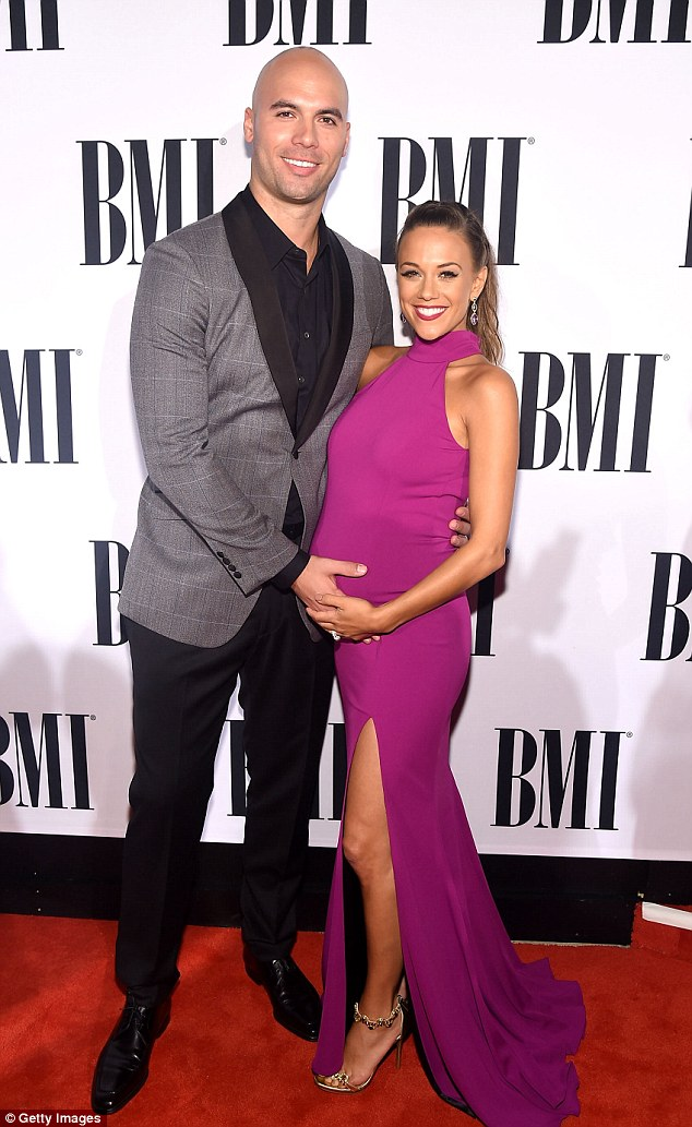 The way they were: Jana gave birth to daughter Jolie Rae Caussin seven months before calling it quits with Mike (pictured November 2015 in Nashville)