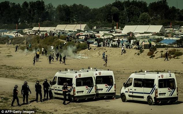 Around 300 migrants were involved in today's disturbances