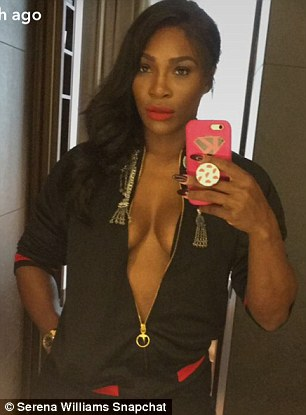A good sport! Serena shared shots of her outfits with her fans as she took to Snapchat