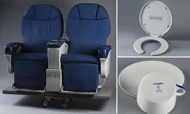 Concorde sale sees toilet seats, menus and headphones go under the hammer