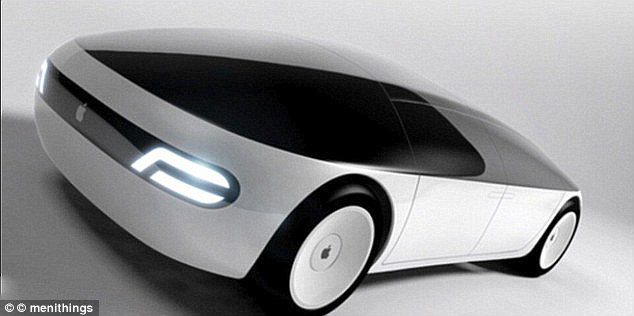 Apple is reportedly in discussions with British supercar maker and Formula One team owner McLaren about a strategic investment or a full-blown acquisition to revive its self-driving car effot. Pictured is a designer's vision of Apple's self-driving electric car