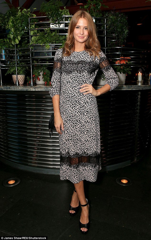 Stunning: Made In Chelsea star Millie Mackintosh looked radiant as she attended the relaunch party of celebrity hotspot Bluebird in London on Wednesday evening