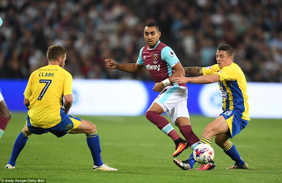 With the scores level at the break French star Payet was introduced to bring some life to the home side's attack