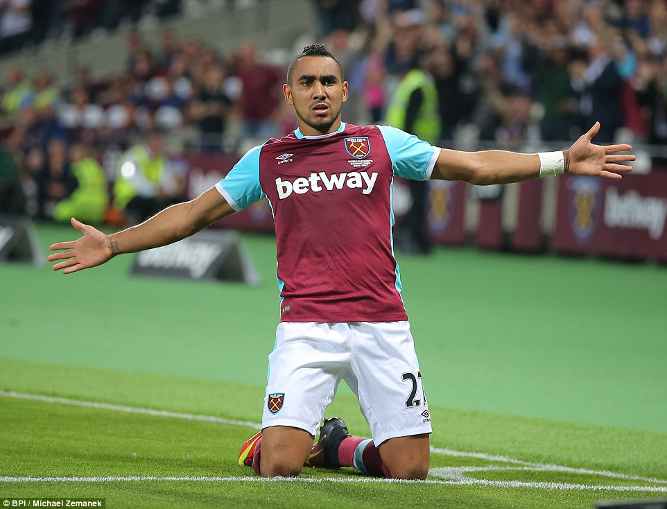 Dimitri Payet scored a free-kick with virtually the last kick to win West Ham's EFL Cup clash with Accrington Stanley