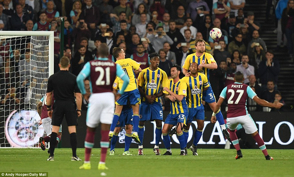 As he did so often last season, Payet stepped up when his side needed him to put West Ham into the EFL Cup fourth round