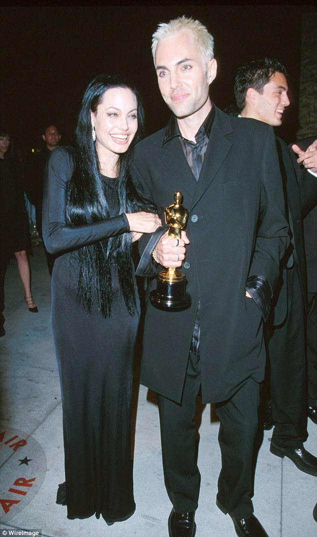 Her rock: Haven first came to public attention in 2000 when he accompanied Jolie to the Academy Awards