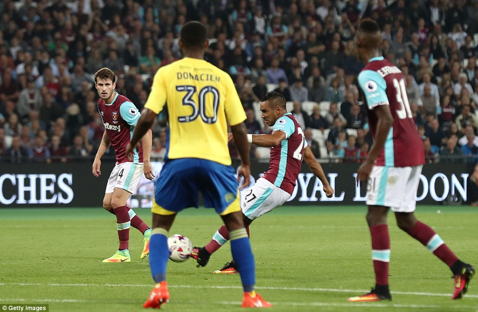 Payet got the chance to win the game for West Ham deep into added time in the second half and played the hero with aplomb