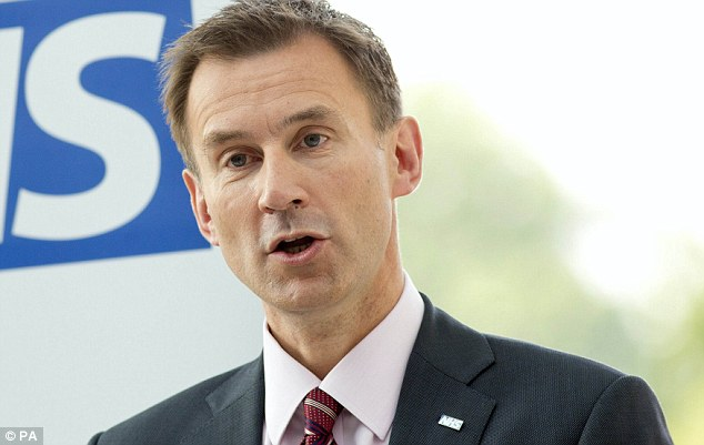 More than 5,000 public sector workers, the majority in the NHS, have been suspended on full pay in the past three years. Pictured is Health Secretary Jeremy Hunt