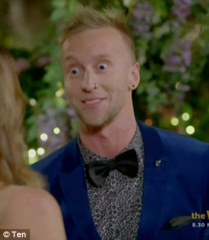 Wide-eyed: The Bachelorette's contestant Ben strikes a close resemblance to that of singer-songwriter John Lydon
