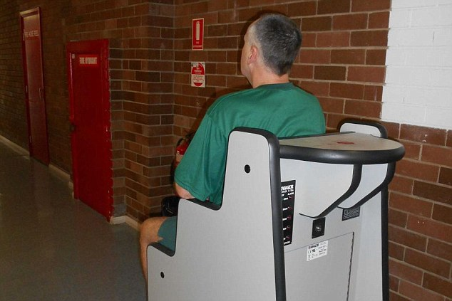 There are non-invasive ways of finding contraband. Pictured is a Body Orifice Security Scanner (BOSS)