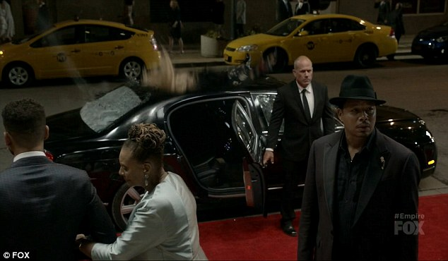Good timing: Rhonda crashed into the top of Lucious's limo just when he asked about Andre's whereabouts