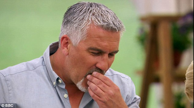 Viewers were sent into meltdown after Paul's gaffe when he explained how small he likes his amuse-bouches, saying: 'I know I've got a big mouth, but I'm talking inch and a half max'