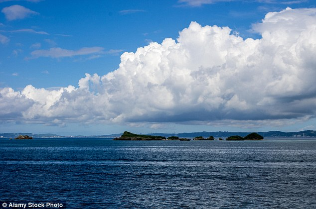 A view of Okinawa Island, which is located off the coast of southern Japan