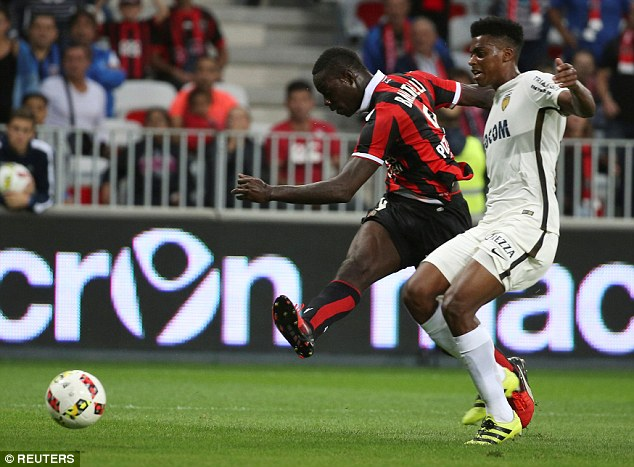 The Italian forward scored twice for Nice in their 4-0 win over Monaco on Wednesday night