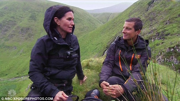 Opening up: Courteney previously reflected on her engagement to Johnny during an appearance on endurance show Running Wild With Bear Grylls