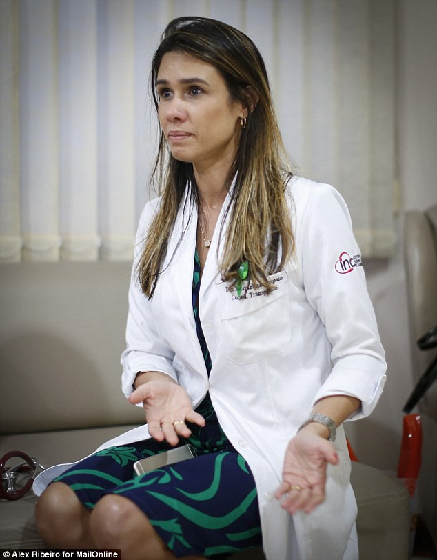 Dr Jaqueline Miranda says: 'We approached the family, knowing there were people in Rio who needed his organs, and they readily agreed to donate them'