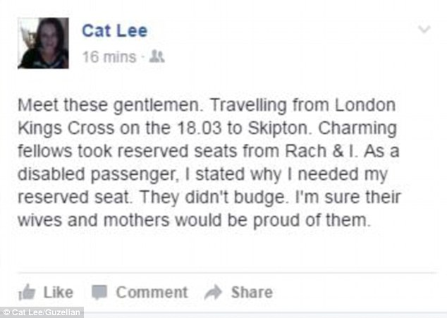 'Their wives and mothers would be proud': Cat Lee took to social media to express their anger