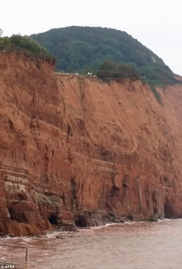 Shocking scene: An onlooker saw the pupils risking their lives at Salcombe Hill and ran up the hill to warn them of the danger with the help of local lifeboat coxswain