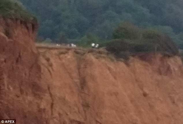 Dicing with death: The five boys from Isca Academy in Exeter, Devon, were ironically said to have been left to do research on coastal erosion at Salcombe Hill in Sidmouth