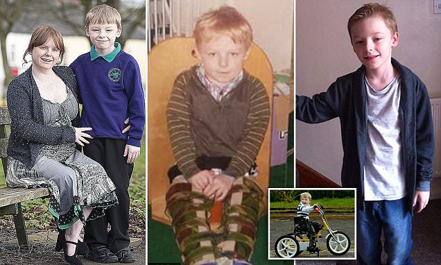 Child with cerebral palsy who can walk says physio should be available on NHS