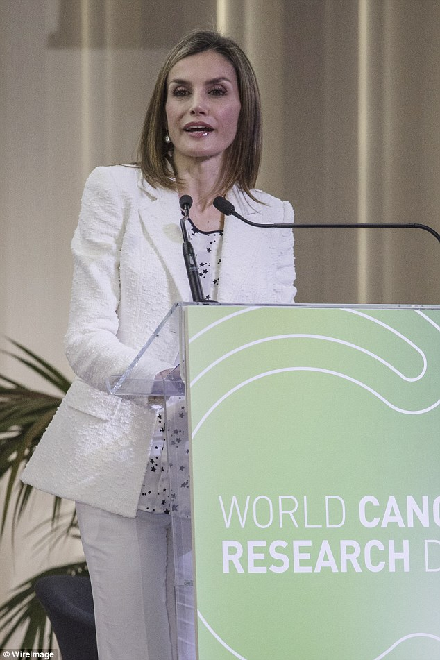 Letizia concluded by highlighting cancer prevention and the importance of leading a healthy lifestyle - looking after our skin, eating well and avoiding smoking