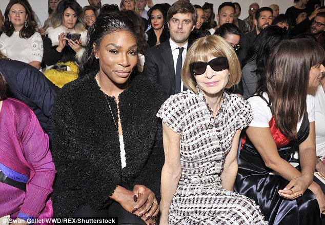 Sitting comfortably: The new BFFs sat together on the front row