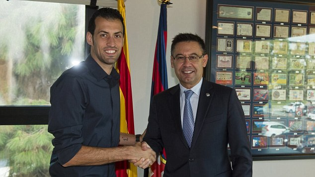 President, Josep Maria Bartomeu, seems intent on seeing Busquets see out his career at Barca