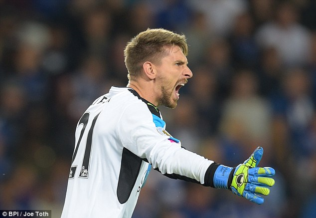 Ron-Robert Zieler will fill in for Schmeichel should the Dane not be fit to face United