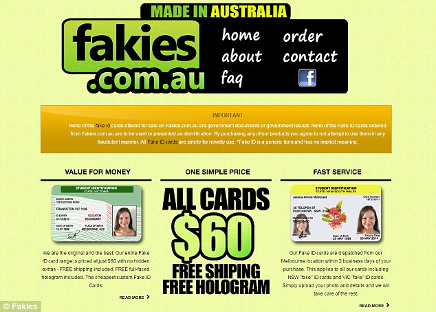 Fakies.com.au, a website offering fake IDs for as little as $60, is seemingly back in operation just three years after it was reportedly shut down during a raid by police