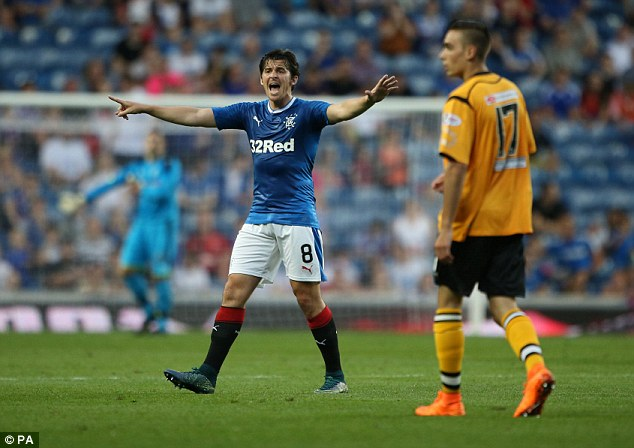 Joey Barton (left) would not get an automatic EFL return, as Rangers would also be overlooked