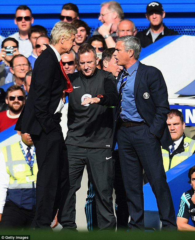 Mourinho says he told Wenger 'you know I can't react, but I will meet you one day in the street'