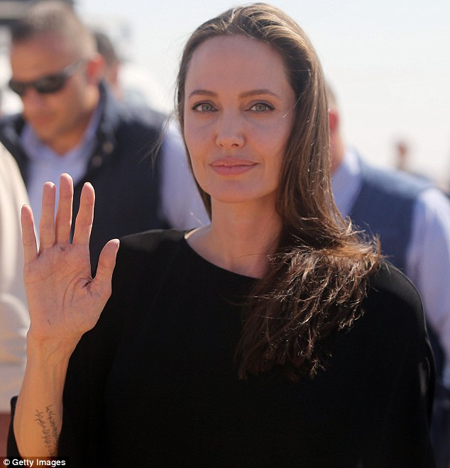 Her role:The Maleficent actress was in the country as a United Nations special envoy to visit. At this point it appeared as if Jolie had tears in her eyes after she made her impassioned speech that called on world leaders to find a solution to the Syrian crisis