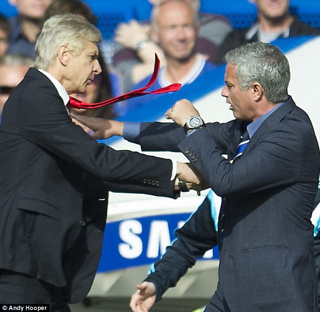 Jose Mourinho has never been able to hide his dislike for Arsenal manager Arsene Wenger