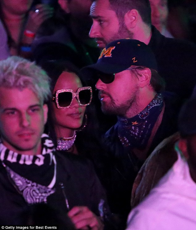 Flirting it up: There were rumours of romance swirling as they were spotted together atthe Neon Carnival Party following Coachella in Indio, California back in April