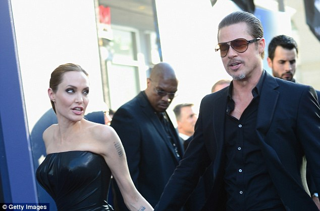 And bad: Jolie filed papers on Monday and news of the couple's split broke on Tuesday (couple above in 2014)