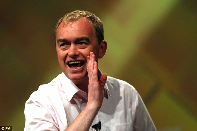 Lib Dem leader Tim Farron, above, said the figures were evidence of funding and staffing crisis in the NHS