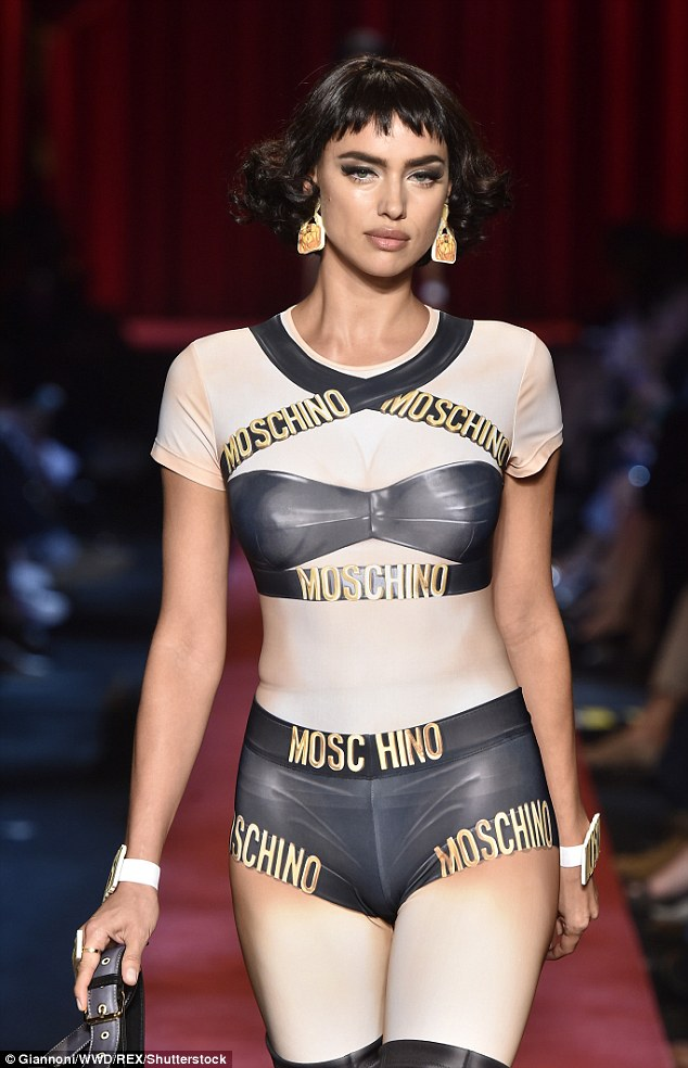 In her stride:Showing off her phenomenal figure in not just one but two stunning outfits, the 30-year-old model had all eyes on her as she strutted down the runway