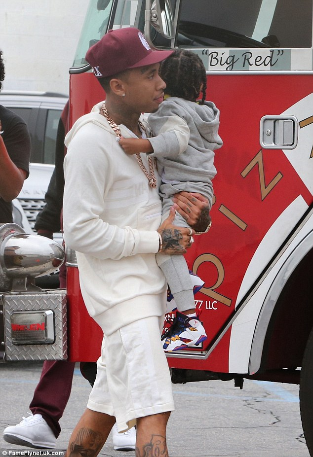 Unusual name: Tyga already has a three-year-old son with his ex Blac Chyna. They called their boy King Cairo