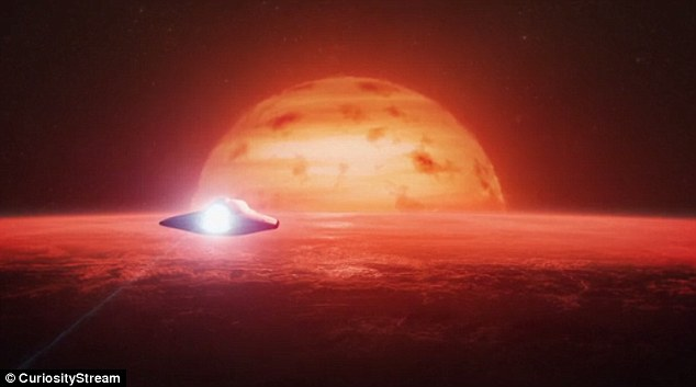 'Here a year only last 36 days,' says Hawking. 'Its atmosphere could be thick, smothering the surface in super thick fog or worse, it could have a gravity of its nearby sun.'One side is always facing the sun, perhaps not a good place for a picnic after all'