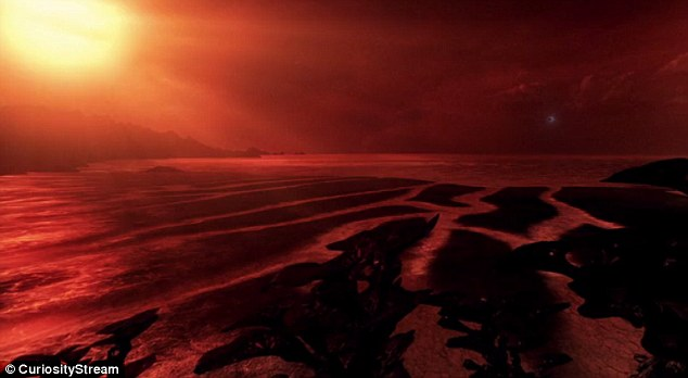 Although Gliese 832c could one-day be our new home, Hawking explains that due to the sun's light, the foliage on the surface is black and purple. This distant world may also have Earth-like temperatures with abundant liquid water and intelligent animals