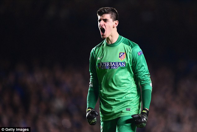 Mourinho was incensed when his own goalkeeper Thibaut Courtois played against Chelsea