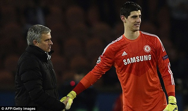 Mourinho managed Belgian stopper Courtois when the pair were at Stamford Bridge