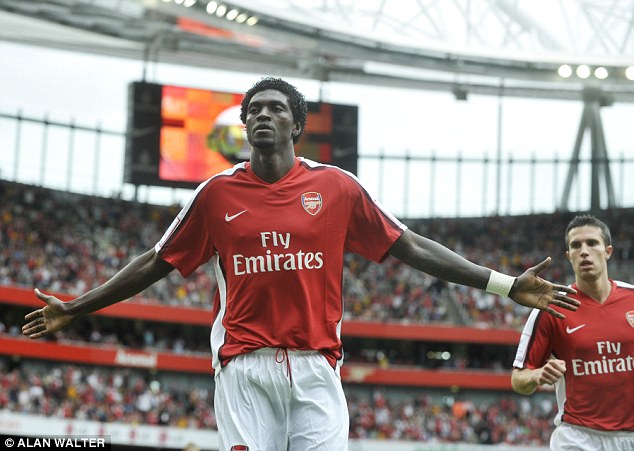 Adebayor's most successful spell in English football was with Arsenal but he's now a free agent