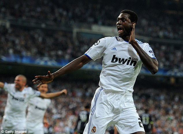 But Adebayor, pictured playing for Real Madrid, insisted the report was meant as a joke