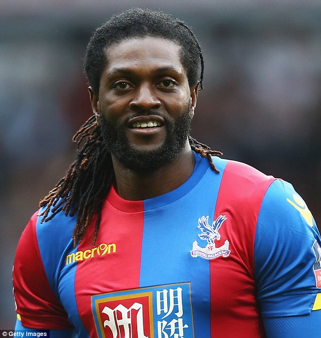 Emmanuel Adebayor remains clubless after leaving Premier League side Crystal Palace