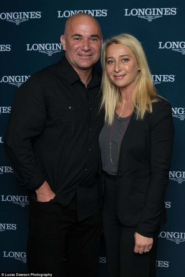 Special occasion: The 42-year-old Offspring actress opted for a sleek pant suit for the occasion, which was celebrating the iconic Longines Master collection with tennis legend, Andre Agassi
