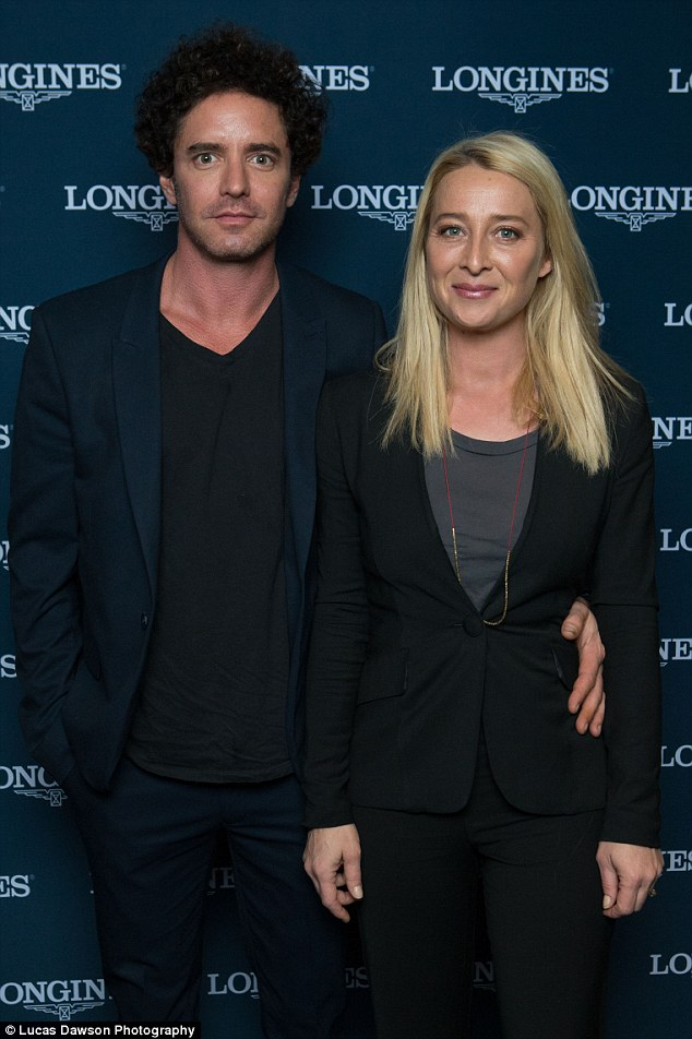 Stunning couple: Asher Keddie and husband Vincent Fantauzzo attended the Longines dinner in Melbourne on Wednesday