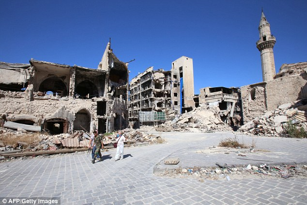 Doctors say 45 people have been killed in the devastated city of Aleppo while local rescuers have called the bombing the start of an 'annihilation'