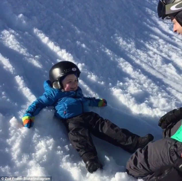 Snow Play: Zoe Foster-Blake posts a cute video of son Sonny playing in the Fijian snow to Instagram on Thursday