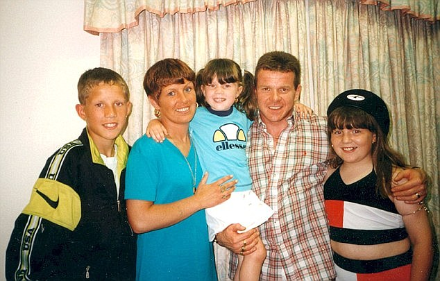 (From left) Adair Jnr, Gina Adair, Chloe Adair, Johnny Adair and Natalie Adair moved to Scotland in the late 1990's after 'Mad Dog' was released in the Good Friday Agreement
